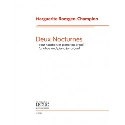 Deux Nocturnes For Oboe And...