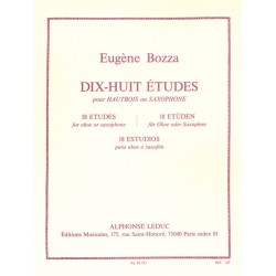18 etudes For Oboe Or...
